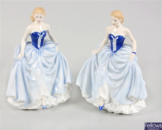 Two Royal Doulton 'Figure of the Year 2004' bone china figures 'Susan' HN 4532