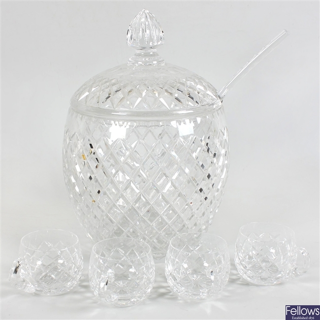 A good quality heavy glass bowl and cover