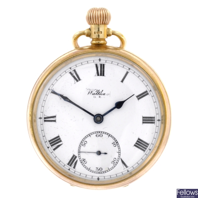 A 9ct gold pocket watch.
