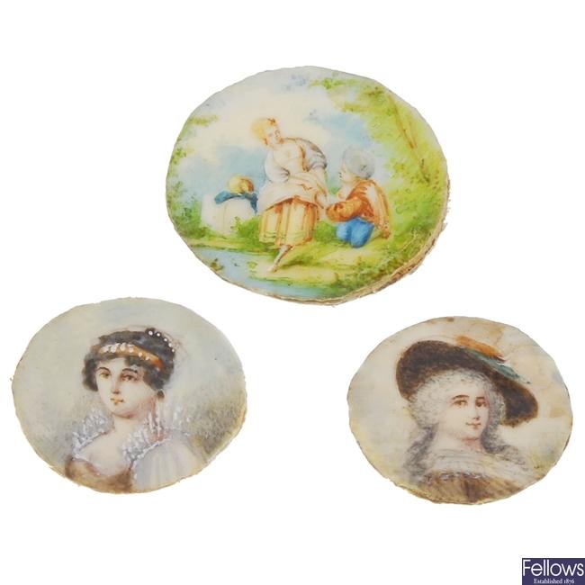 Three miniatures.
