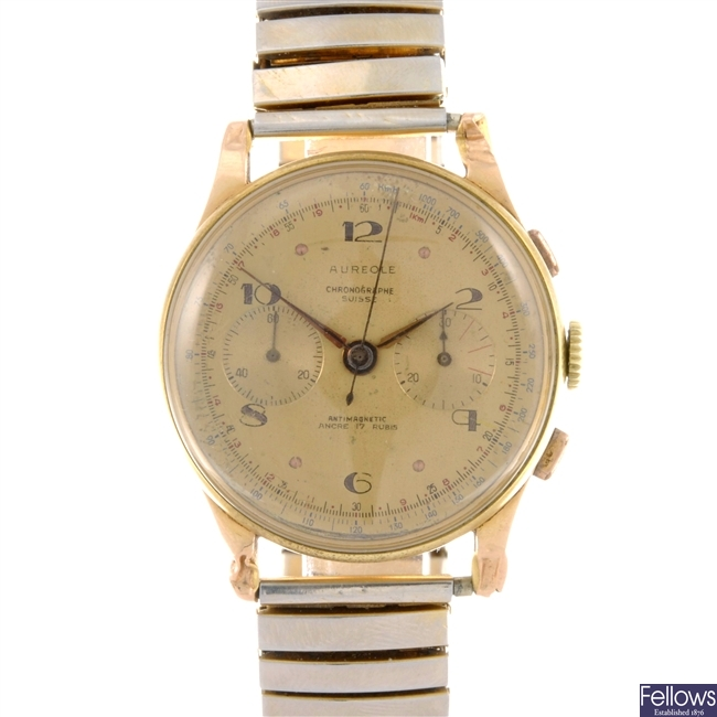 An 18k manual wind gentleman's Aureole chronograph.