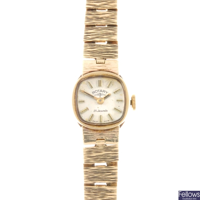 ROTARY - A 9ct gold lady's bracelet watch.