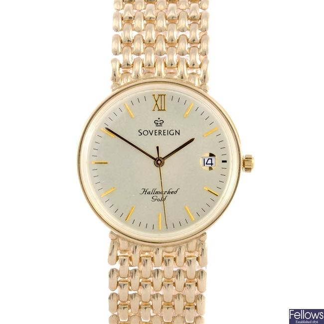 (504003070) gentleman's 9ct  wrist watch