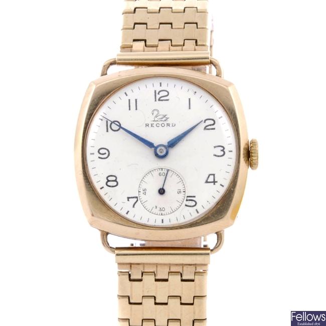 (134168460) gentleman's 9ct  wrist watch