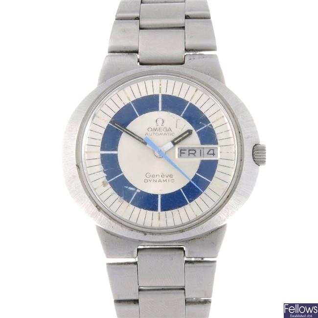 A stainless steel automatic gentleman's Geneve Dynamic bracelet watch.