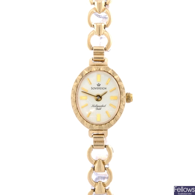 (412018301)  lady's gold watch
