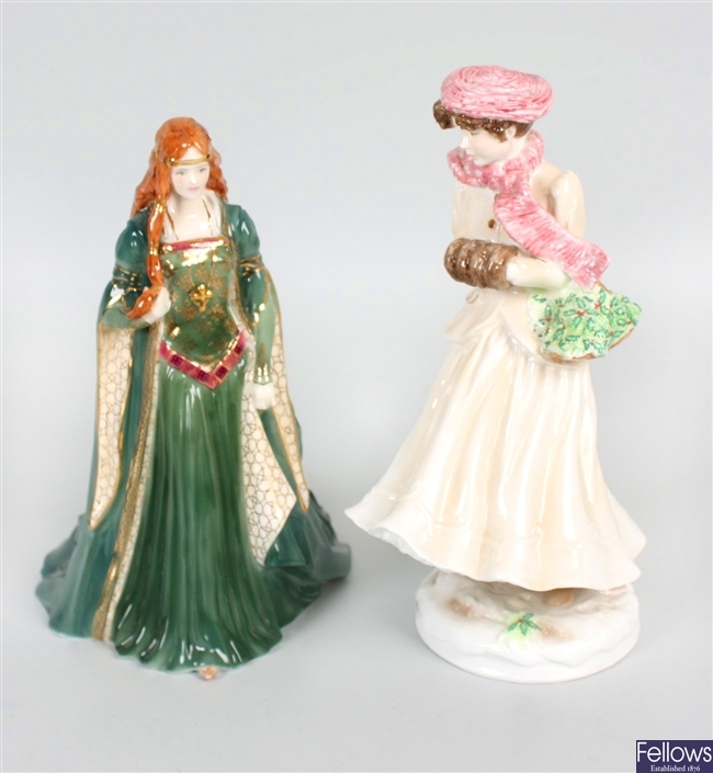 A selection of Royal Worcester figurines