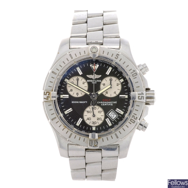 A stainless steel quartz gentleman's Breitling Colt chronograph.