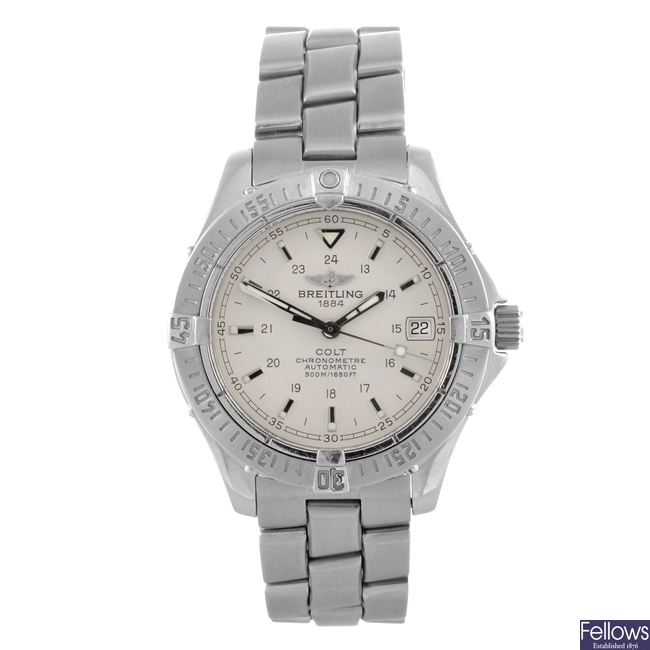 A stainless steel automatic gents Breitling Colt bracelet watch