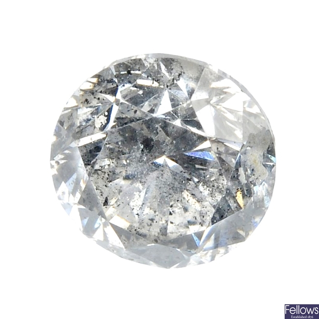 A single loose diamond of 1.05cts.