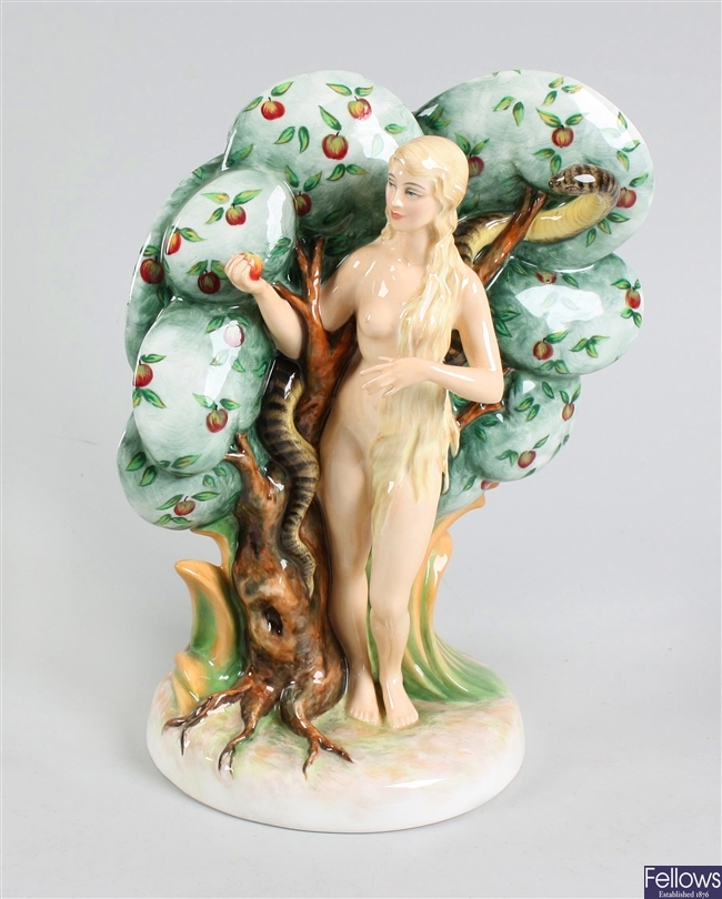 A Royal Doulton bone china figurine modelled as Eve