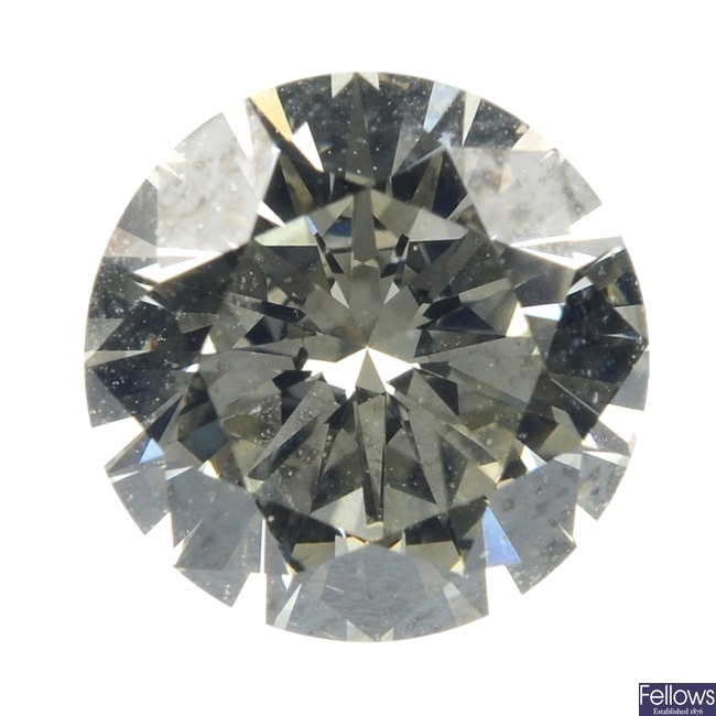 A loose brilliant-cut diamond of 1.11cts.