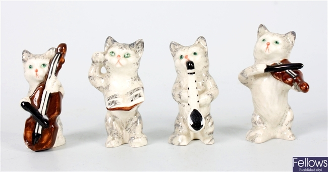 Four miniature novelty Beswick animal figures