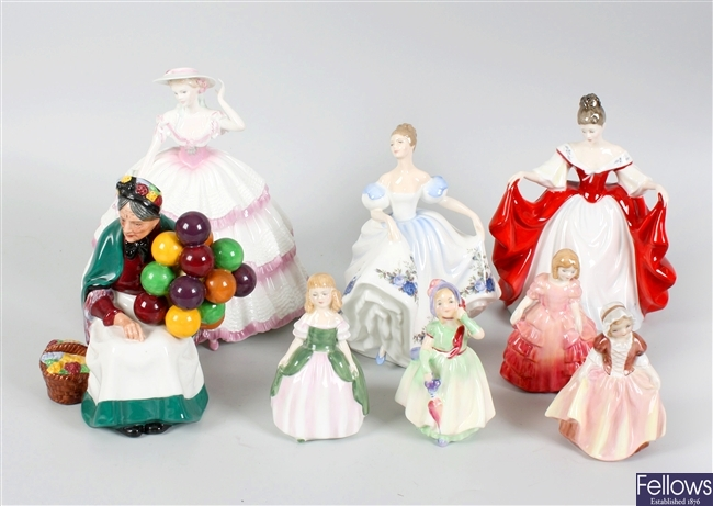 Seven assorted Royal Doulton bone china figurines