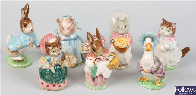 A group of seven Beswick Beatrix Potter storybook figures