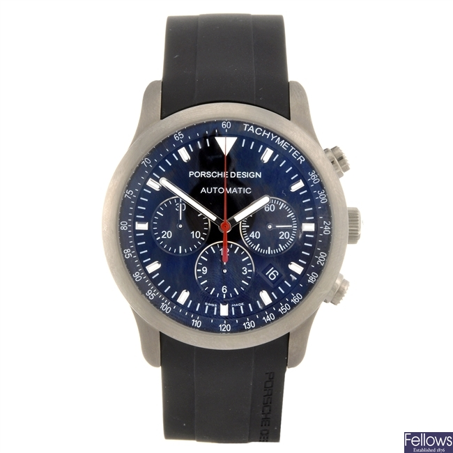 A titanium automatic gentleman's Porsche Design wrist watch.