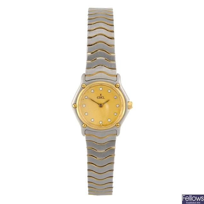 A bi-colour quartz lady's Ebel bracelet watch.