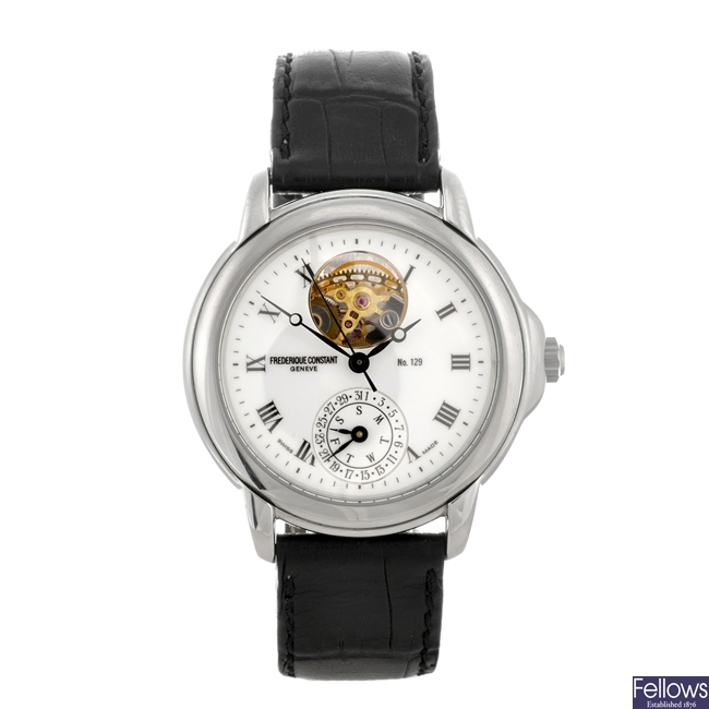 A stainless steel automatic gentleman's Frederique Constant Heart Beat wrist watch.