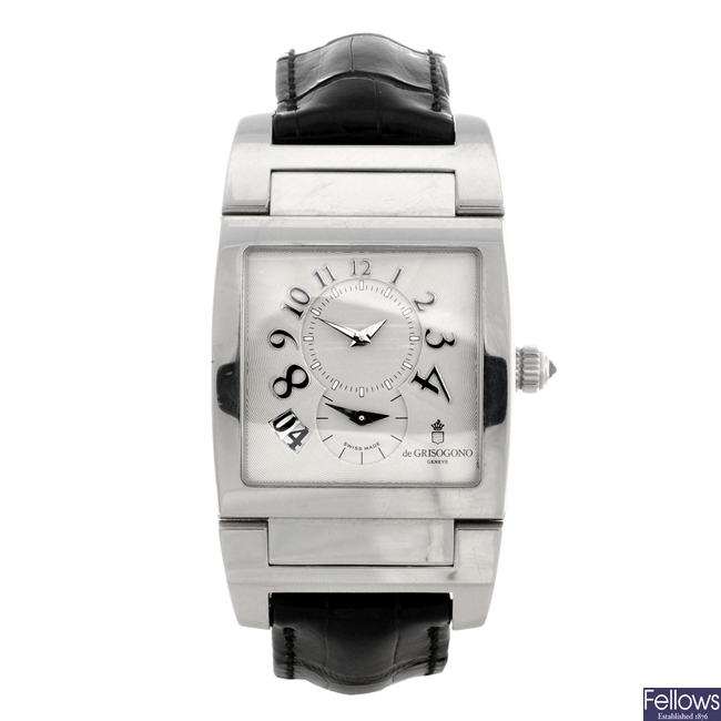 A stainless steel automatic gentleman's De Grisogono Instrumento No. Uno GMT wrist watch.
