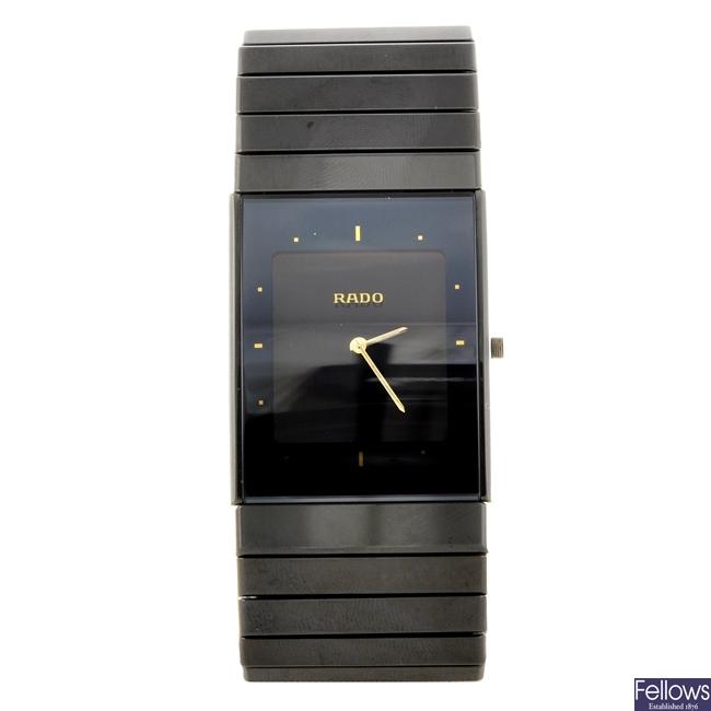 A high-tech ceramic quartz gentleman's Rado Diastar Multifunction bracelet watch.