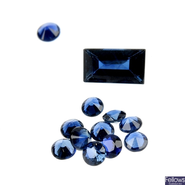 A quantity of loose vari-shape sapphires of 17.69cts.