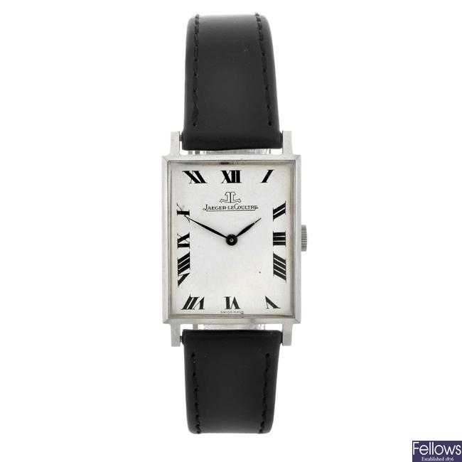 A stainless steel manual wind gentleman's Jaeger LeCoultre wrist watch.