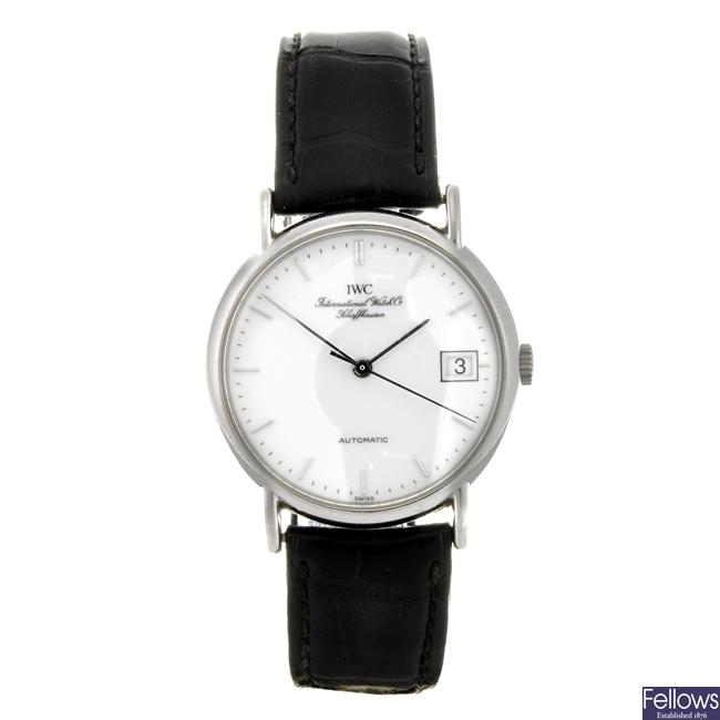 (31253) A stainless steel automatic gentleman's IWC Shaffhausen wrist watch.