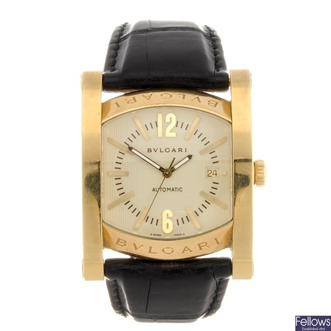 (81915) An 18k gold automatic gentleman's Bulgari Assioma wrist watch.