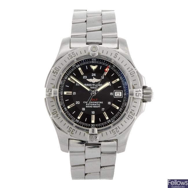 (82019) A stainless steel automatic gentleman's Breitling Aeromarine Colt bracelet watch.