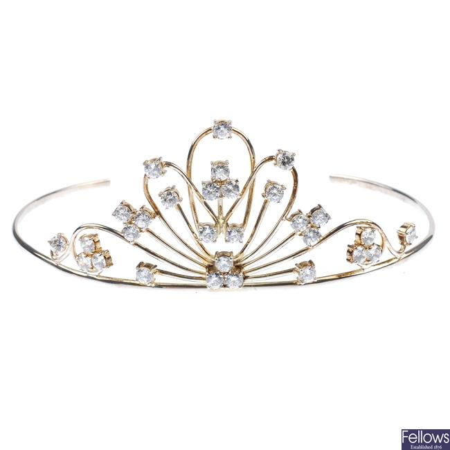 A paste tiara.