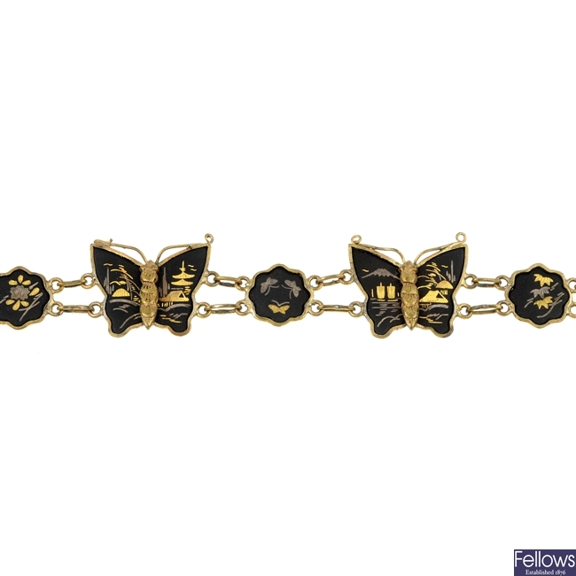 A selection of two Siam bracelet and other items.