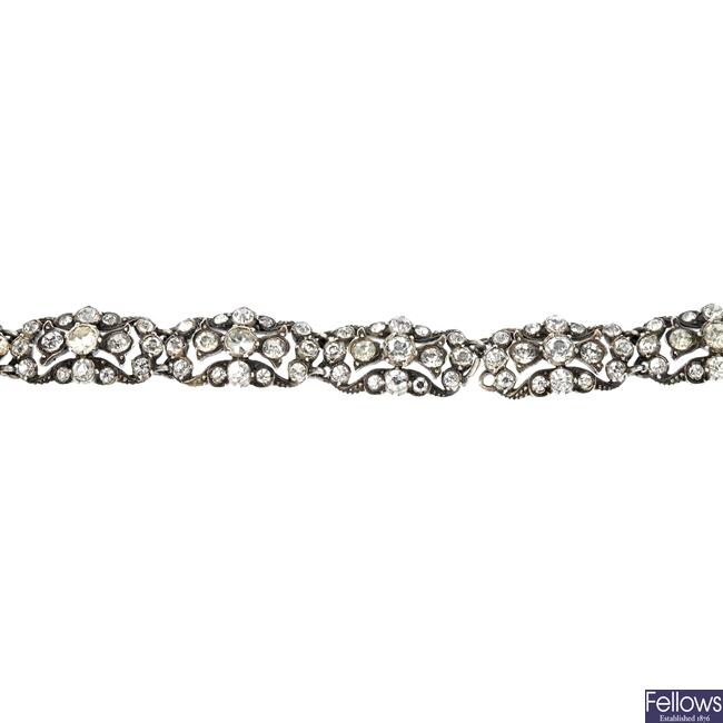 An early 20th century paste bracelet.