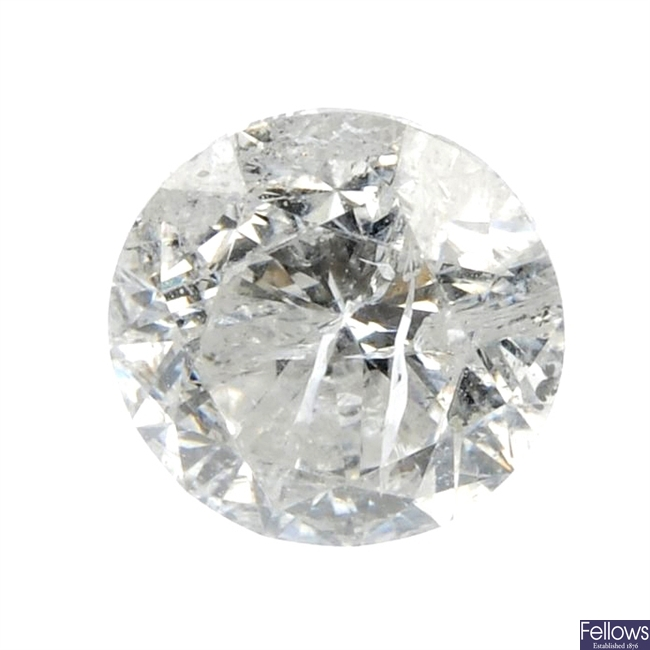 A brilliant-cut diamond, weighing 0.75ct.