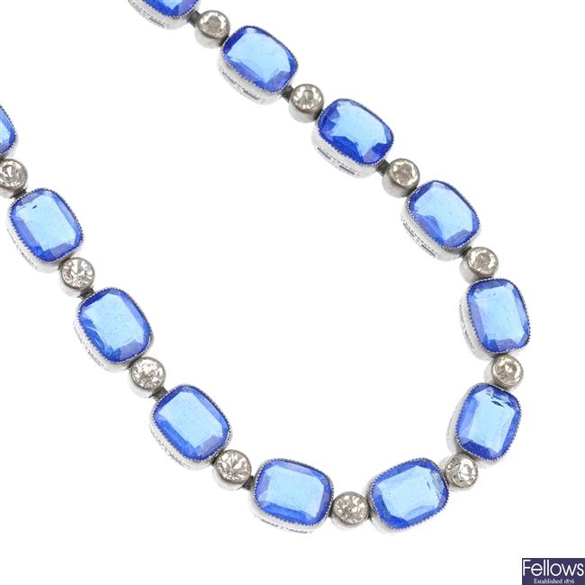 A paste necklace.