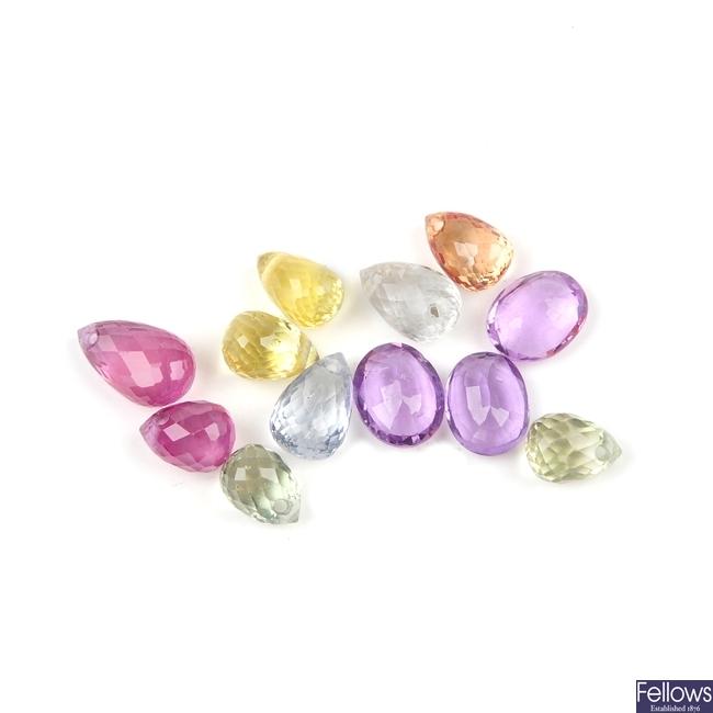 A selection of beryllium diffusion treated vari-colour sapphires.