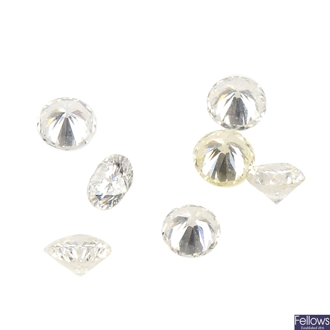 A selection of brilliant and old-cut diamonds.