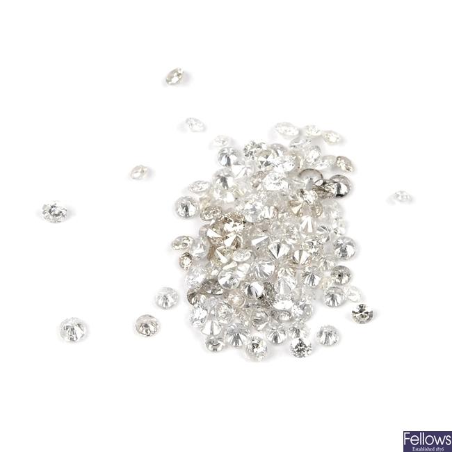 A selection of vari-cut diamonds.