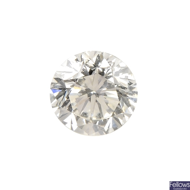 A brilliant-cut diamond, weighing 0.40ct.