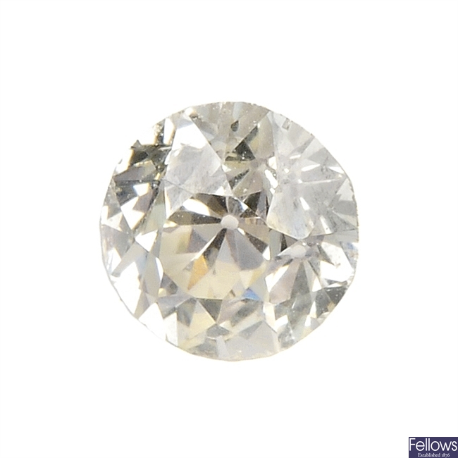 An old-cut diamond, weighing 0.73ct.