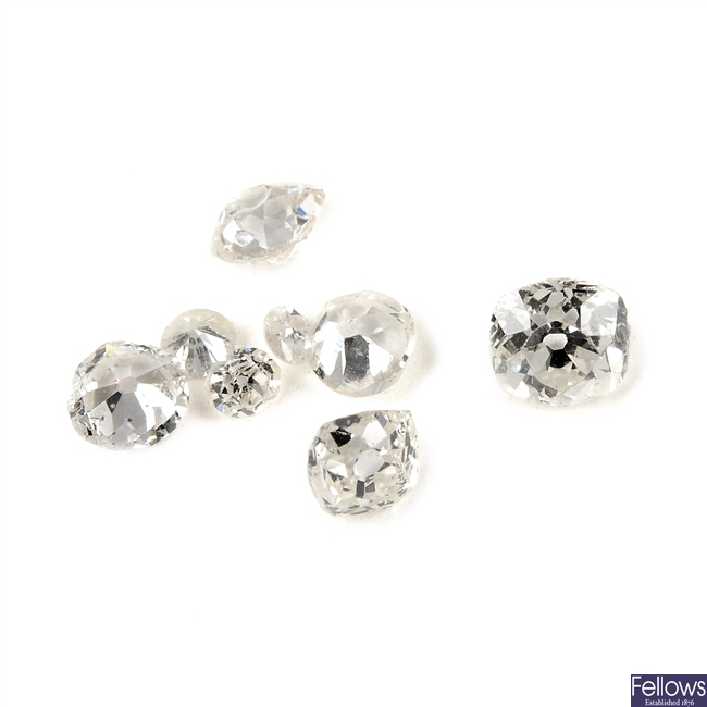 Eight vari-cut diamonds.