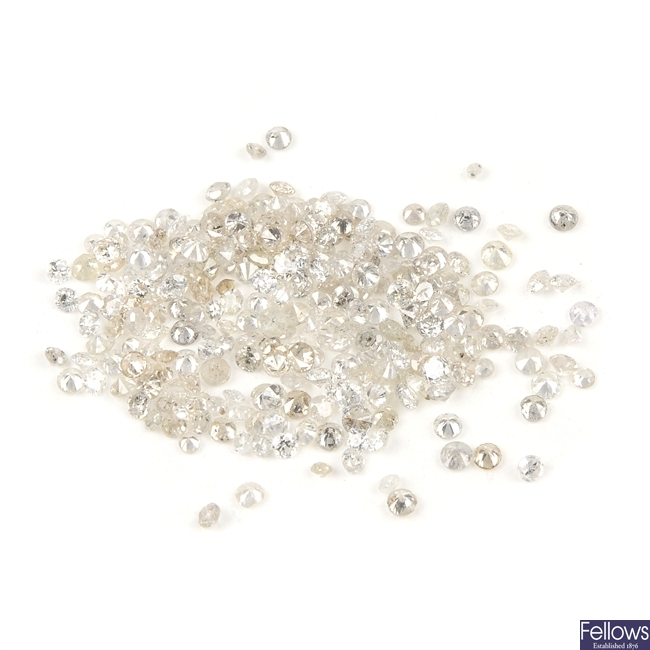 A selection of brilliant and single-cut diamonds, total 3.73cts.