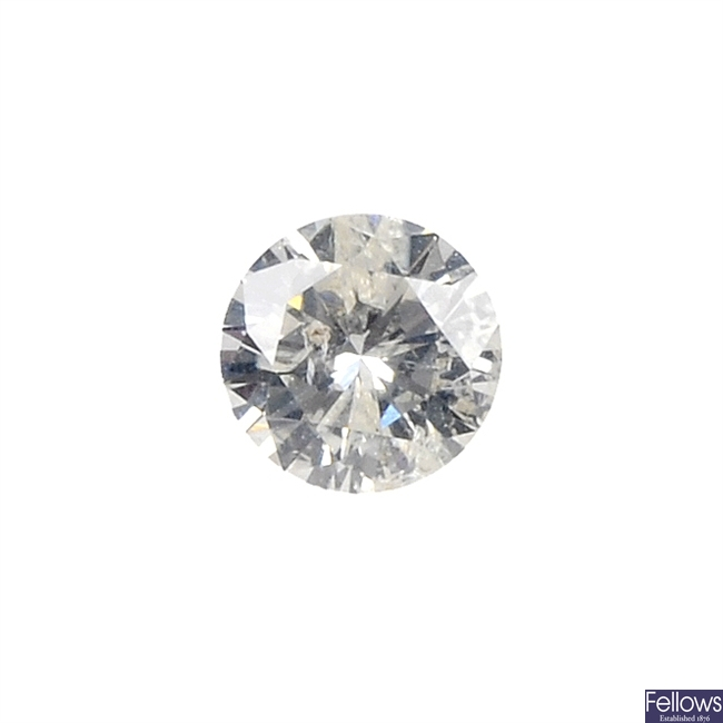A brilliant-cut diamond, weighing 0.51ct.
