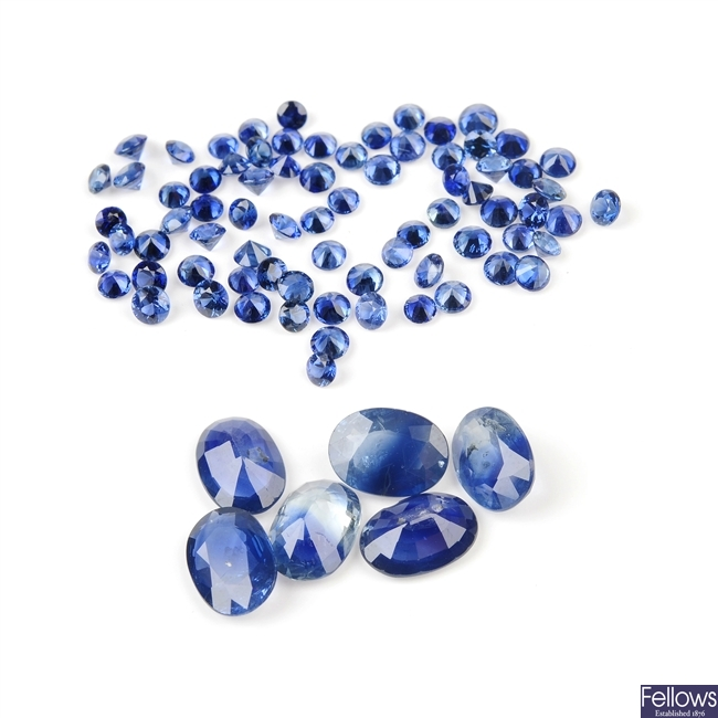 A selection of sapphires.