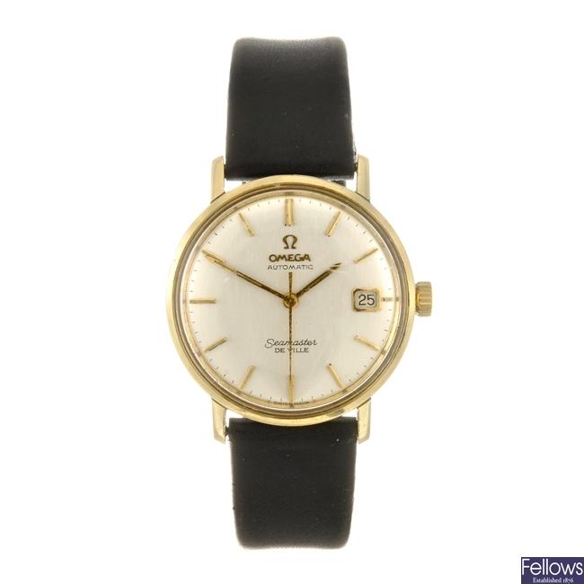 A bi-colour automatic gentleman's Omega Seamaster De Ville wrist watch.