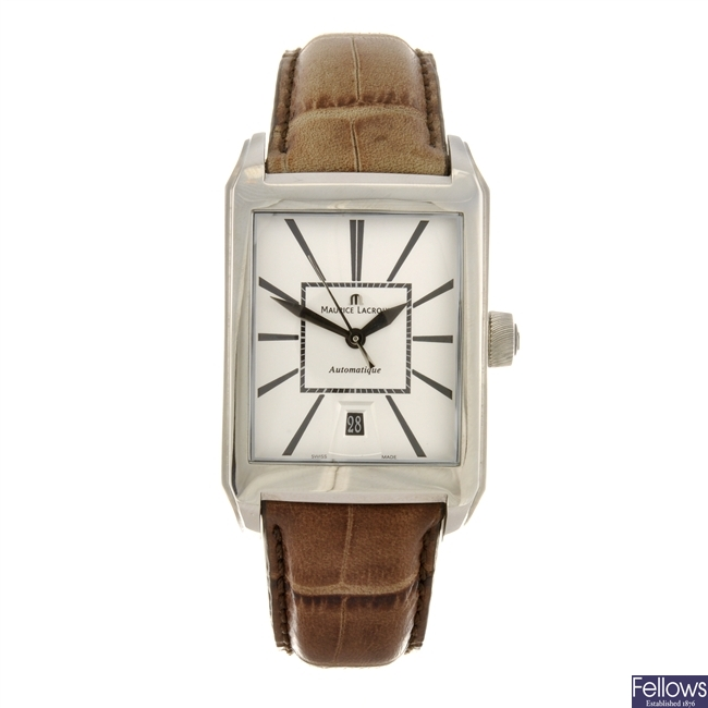 A stainless steel automatic gentleman's Maurice Lacroix Pontos wrist watch.