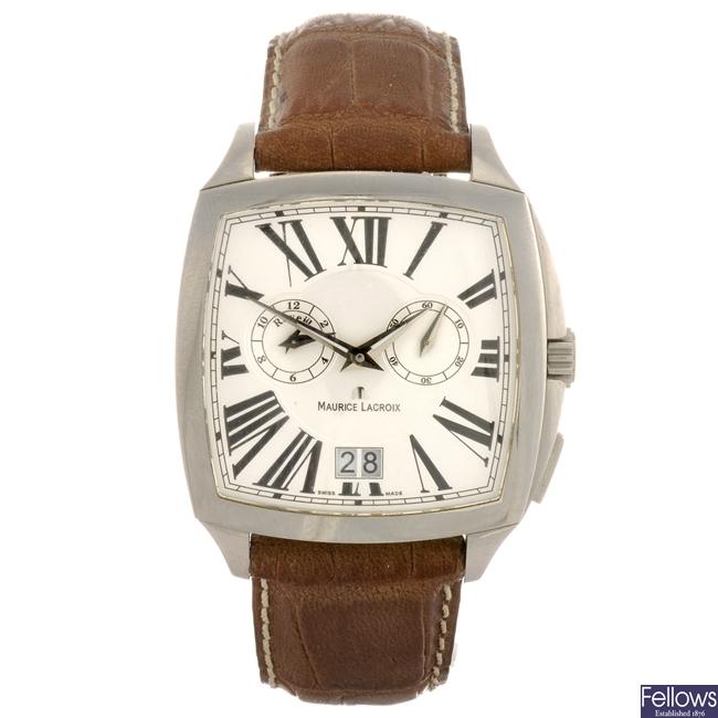 A stainless steel quartz gentleman's Maurice Lacroix Miros wrist watch.