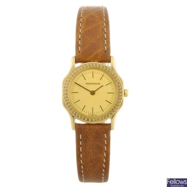 An 18k gold quartz lady's Jaeger-LeCoultre watch head.