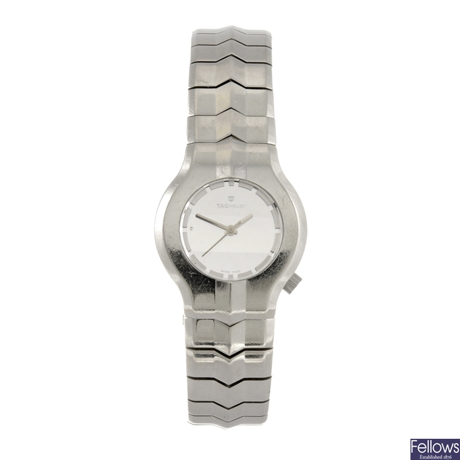 A stainless steel quartz lady's Tag Heuer Alter Ego bracelet watch.