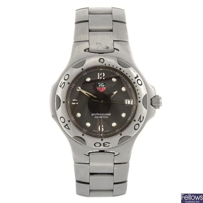 A stainless steel quartz gentleman's Tag Heuer Kirium bracelet watch.