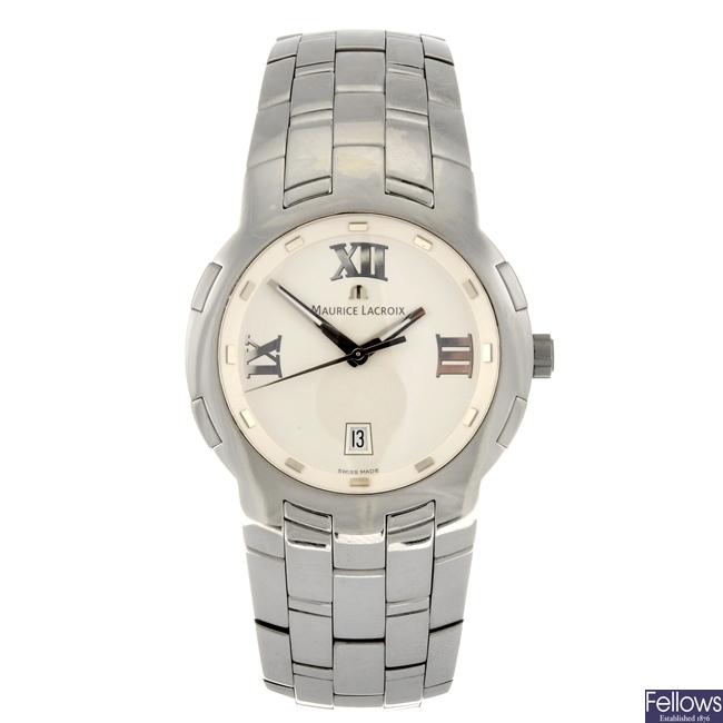 (108108088) A stainless steel quartz gentleman's Maurice Lacroix Milestone bracelet watch.
